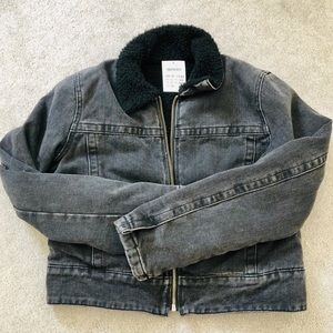 Brandy Melville black jean jacket. *NEW WITH TAGS*